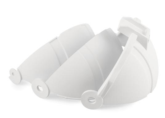 Passende Ersatz-Schutzkappe für Ihren Kompass OFFSHORE 135. Farbe: weiß.  (Bild 2 von 2)