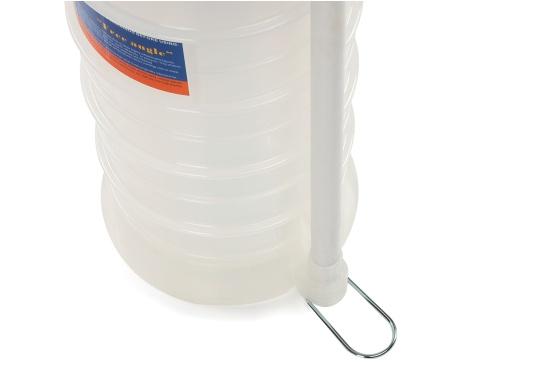Universelle, einfach zu bedienende Absaugpumpe für Öle, Wasser und ähnliche Flüssigkeiten. Mithilfe von wenigen Hüben mit der Handpumpe wird ein Vakuum aufgebaut, das die Flüssigkeit in den Auffangbehälter saugt. Volumen: 10,5 Liter. (Bild 4 von 5)