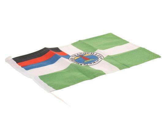 Robuste Nylon-Flaggen mit offiziellem Flaggen-Druck: Borkum. Hochwertige Verarbeitung mit 100%-Durchdruck, schnelle und einfache Befestigung. (Bild 2 von 2)