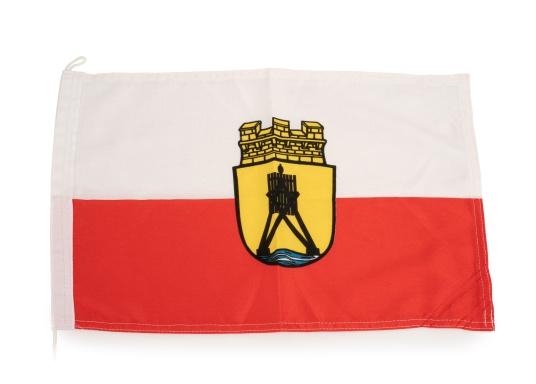 Robuste Nylon-Flaggen mit offiziellem Flaggen-Druck: Cuxhaven. Hochwertige Verarbeitung mit 100%-Durchdruck, schnelle und einfache Befestigung.