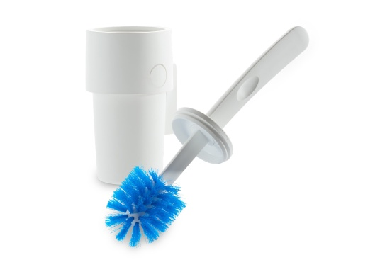 Perfect for use on board! This toilet brush is the perfect size for marine toilets and is conveniently stored in a holder that keeps it safely in place during voyages at sea.