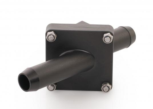 Perfect for long suction lines to avoiddry running the pump. These chack valves can be installed in existing suction lines. Available in different sizes: for 38, 25 or 19 mm hose connections.  (Image 7 of 7)