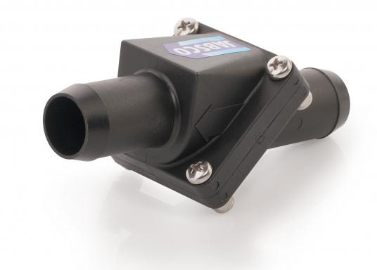 Cette valve anti-retour Jabsco est parfaite sur une installation avec un long raccord pour éviter que la pompe ne tourne à sec. Disponiblepour plusieurs diamètres de tuyau : 38, 25 et 19 mm  (Image 3 de 7)
