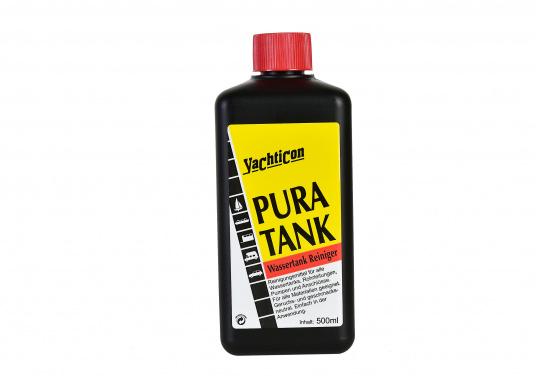 PUR A TANK, das ideale Reinigungs- und Desinfektionsmittel für Wassertanks. Es tötet Bakterien und Wasseralgen ab.