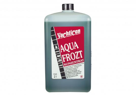 Wirkungsvoller Frostschutz für Ihre Trinkwasser- und WC-Anlage. AQUA FROZT erspart Ihnen das vollständige Entwässern der Systeme und bietet einen Frostschutz von bis zu -21°C.