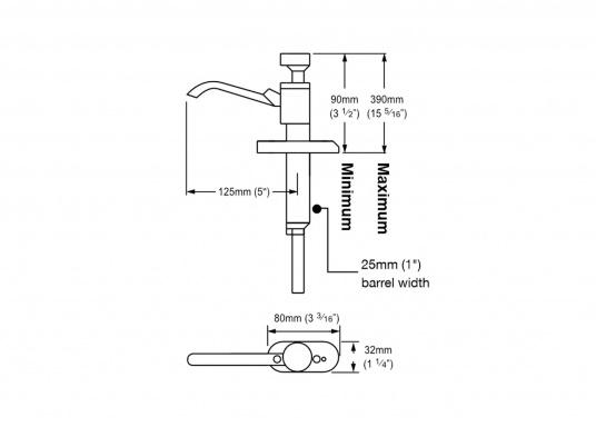 selbstansaugend doppelwirksam besonders leichtgängig ideal als Waschbeckenpumpe auch für Seewasser geeignet   (Bild 4 von 4)