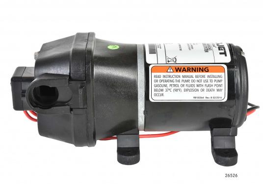 Leistungsfähige Pumpenserie. Die Pumpen sind mit einem 4-Kammer-Pumpsystem ausgestattet, selbstansaugend, trockenlaufsicher und mit einem Druckschalter versehen. Lieferbar in zwei Typen: mit12 l/min oder 17 l/min Förderleistung. (Bild 2 von 3)