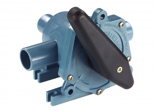 2-Wege-Ventil der Spitzenklasse zum Umschalten auf zwei verschiedene Bilgen oder zum Entleeren von zwei verschiedenen Tanks mit einer Pumpe. In zwei Ausführungen lieferbar: mit 25 oder 38 mm Anschlussstutzen.