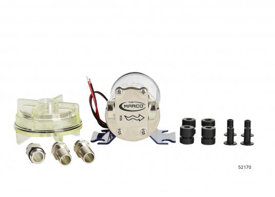 Selbstansaugende Zahnradpumpe zum Umpumpen von Petroleum, Frostschutz, Diesel und Heizöl etc. Ideal für die Verwendung auf Schiffen und für viele andere Einsatzmöglichkeiten.  (Bild 4 von 9)