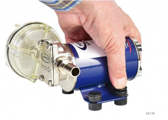 Selbstansaugende Zahnradpumpe zum Umpumpen von Petroleum, Frostschutz, Diesel und Heizöl etc. Ideal für die Verwendung auf Schiffen und für viele andere Einsatzmöglichkeiten.  (Bild 3 von 9)