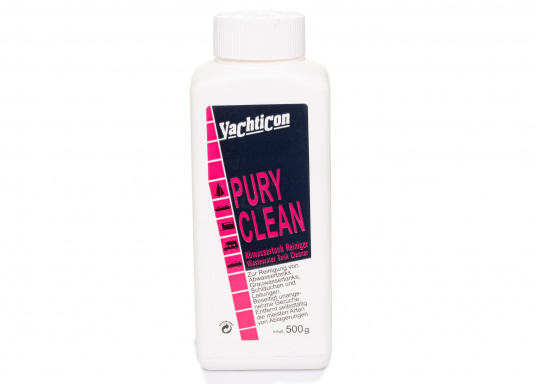 PURY CLEANis ideal for cleaning and disinfecting waste water tanks and systems. It should always be used at the end of the season to prevent deposits from forming on the tank walls.