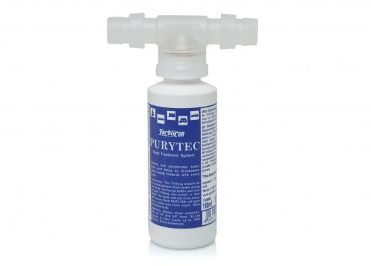 Die optimale Lösung für Ihr Bord-WC! PURYTEC wirkt nachhaltig gegen Ablagerungen, Kalk, Gerüche und Bakterien im gesamten Spülbereich Ihrer WC-Anlage und spendet frischen Geruch bei jedem Spülen.