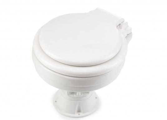 Besonders einfache Handhabung! Das Vakuum WC mit einem Becken aus Porzellan und einem Sitz und Deckel aus Kunststoff.  (Bild 3 von 8)