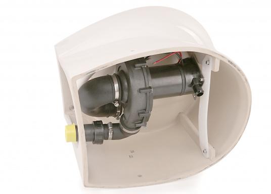 Fühl dich wie zu Hause! Das Bord-WC ELEGANCE bringt Komfort an Bord ihres Schiffes. Die Toilette setzt neue Maßstäbe in Größe, Bedienung und geringer Geräuschentwicklung. Spannung: 12 V.  (Bild 5 von 8)