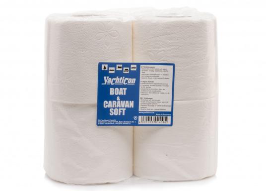 Weiches WC-Papier speziell für Yacht-WC's. Besonders leicht löslich und verhindert ein Verstopfen des WC's.