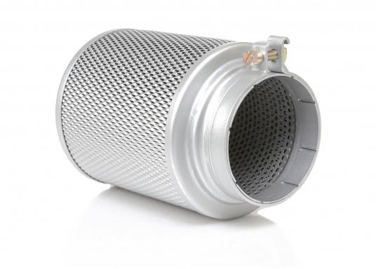 Nassluftfilter für die filterung der Ansaugluft von Maschinen und Geräten, die in leicht verunreinigter Luft eingesetzt werden, z.B. Stationärmotoren, Kompressoren und Schiffsdiesel. Erhältlich in verschiedenen Größen.