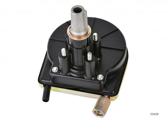 Compact-T-Steuerung für Motorboote bis 40 kW / 55 PS , inklusive Steuerkopf und -kabel und Montagekit.Lieferbar in verschiedenen Längen. Das passende Steuerrad ist optional erhältlich.  (Bild 2 von 4)