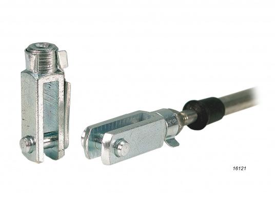 Hier bieten wir Ihnen Zubehör für Bedienzüge: Gabelkopf, Kugelkopf, Kabelschelle.Geeignet für den Anschluss an die Low-Friction und C2 Bedienzüge.  (Bild 2 von 3)