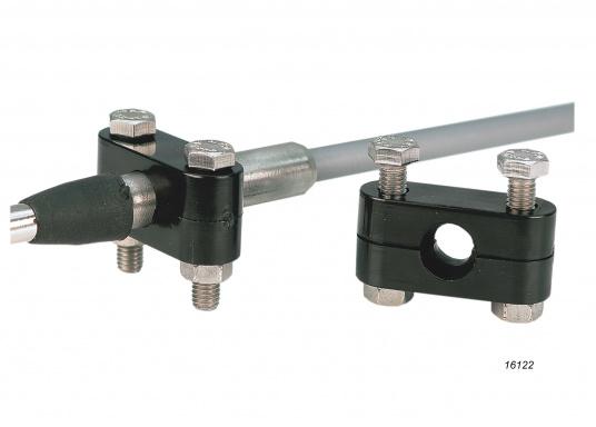 Hier bieten wir Ihnen Zubehör für Bedienzüge: Gabelkopf, Kugelkopf, Kabelschelle.Geeignet für den Anschluss an die Low-Friction und C2 Bedienzüge.  (Bild 3 von 3)