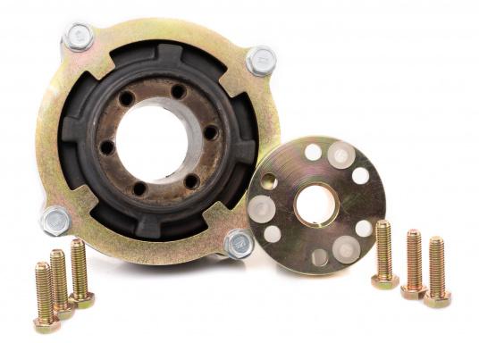 Diese Kupplung bietet einen entscheidenden Vorteil: Mit dieser Kupplung lassen sich Fluchtungsfehler des Motors zur Propellerwelle von bis zu 2° ausgleichen. Erhältlich in verschiedenen Ausführungen.  (Bild 4 von 8)