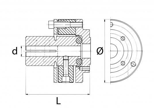 Die BULLFLEX Kupplungen wurden speziell für eine noch bessere Vibrationsdämpfung entwickelt. Dank superelastischer Gummidämpfer und eines speziellen Zentrierringes wird ein extrem ruhiger Lauf des Antriebssystem erreicht.  (Bild 2 von 2)