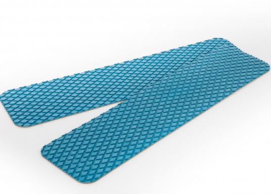 Antirutsch-Pads mit Rombenstruktur und praktischer, selbstklebender Beschichtung auf der Rückseite.Lieferbar in der Farbe:blau, jeweils in verschiedenen Größen. Packungsinhalt: 2 Pads.  (Bild 3 von 6)