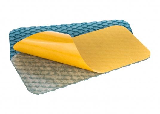 Antirutsch-Pads mit Rombenstruktur und praktischer, selbstklebender Beschichtung auf der Rückseite.Lieferbar in der Farbe:blau, jeweils in verschiedenen Größen. Packungsinhalt: 2 Pads.  (Bild 2 von 6)