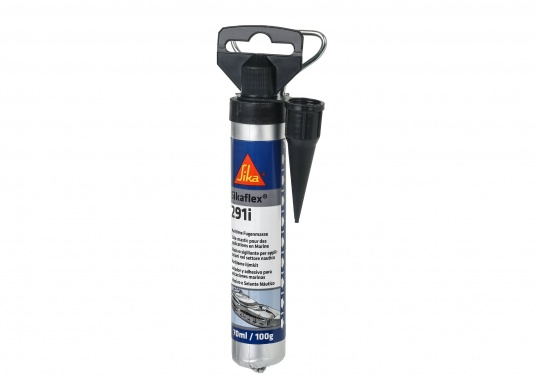 Sikaflex® - 291i is a marine one-component polyurethane sealant. It has high adhesive power on materials used for boat building.