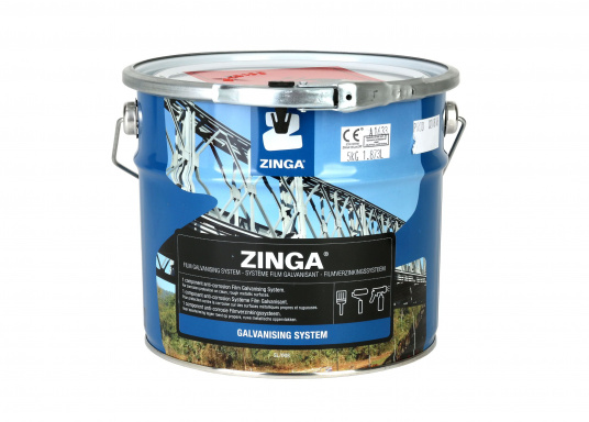 Zinga® on steel givesrustno chance!    active cathodic corrosion protection  no spalling  no cracking  no rust creepage   (Image 2 of 2)