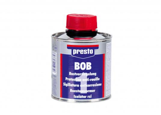 BOB eliminates the cause of rust! It can be applied directly on to the rust. Loose rust layers have to be removed beforehand.