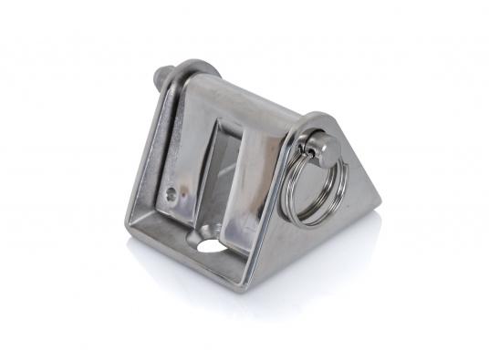 Stabiler Kettenstopper aus rostfreiem Edelstahl zur Entlastung der Ankerwinde.Geeignet für 8 mm und 10 mm-Ketten.  (Bild 2 von 3)