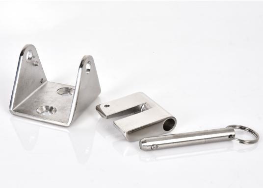 Stabiler Kettenstopper aus rostfreiem Edelstahl zur Entlastung der Ankerwinde.Geeignet für 8 mm und 10 mm-Ketten.  (Bild 3 von 3)