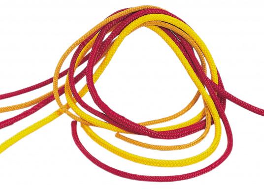 Schwimm- und Rettungsleine aus 16-fach geflochtenem Polypropylen-Multifill. Ideal geeignet fürRettungsringe, Rettungsrollen und Rettungskragen. Erhältlich in zwei Ausführungen und zwei Farben.