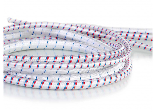 Bungee cord - Extremely flexible cord with a nylon braided cover for various applications. Available in 4.6, 8 or 10 mm diameters. Priced per meter.