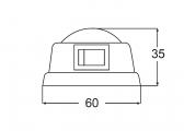 Transistor-Innenleuchte / 285 mm Länge
