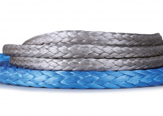 This world-class rope is a very good choice for racing. It provides the strength of a wire rope and is 14 times lighter