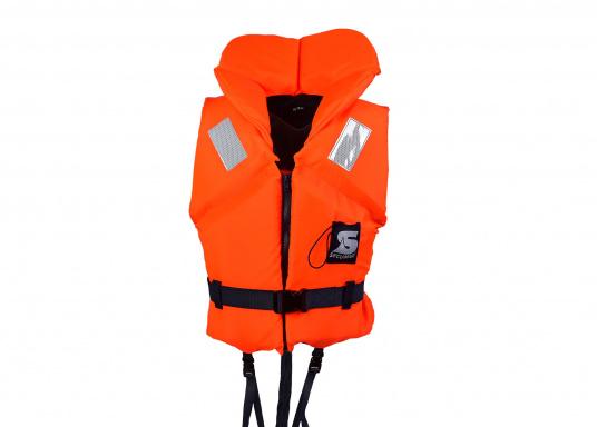 Gilet de sauvetage de qualité et confortable à porter. Fabriqué aux standards CE. Disponible en plusieurs tailles en fonction du poids de l&#39&#x3B;utilisateur.