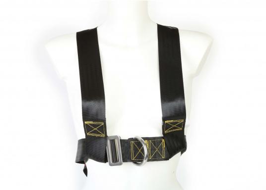 Für Ihre Sicherheit! Das Sicherheits-Lifebelt ist CE-geprüft (ISO 12401) und mit einem D-Ring zur Befestigung einer Sorgleine ausgestattet. Geeignet für Erwachsene ab 50 kg Körpergewicht.  (Bild 2 von 5)