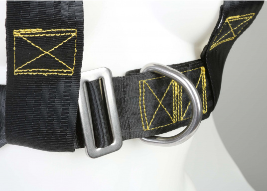 Für Ihre Sicherheit! Das Sicherheits-Lifebelt ist CE-geprüft (ISO 12401) und mit einem D-Ring zur Befestigung einer Sorgleine ausgestattet. Geeignet für Erwachsene ab 50 kg Körpergewicht.  (Bild 4 von 5)