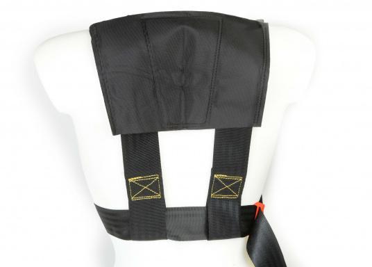 Für Ihre Sicherheit! Das Sicherheits-Lifebelt ist CE-geprüft (ISO 12401) und mit einem D-Ring zur Befestigung einer Sorgleine ausgestattet. Geeignet für Erwachsene ab 50 kg Körpergewicht.  (Bild 3 von 5)