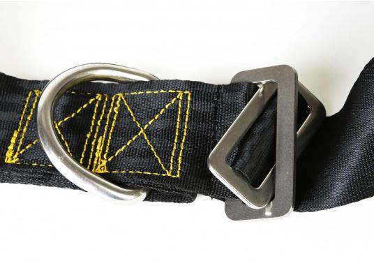 Für Ihre Sicherheit! Das Sicherheits-Lifebelt ist CE-geprüft (ISO 12401) und mit einem D-Ring zur Befestigung einer Sorgleine ausgestattet. Geeignet für Erwachsene ab 50 kg Körpergewicht.  (Bild 5 von 5)