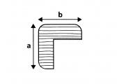 Teak Corner Profile, 2 m
