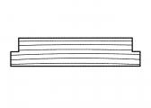 Tavole in legno pregiato, fresate su entrambi i lati