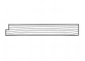 Teak Plank, milled on one side