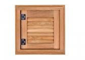 Teak Louvered Door and Frame