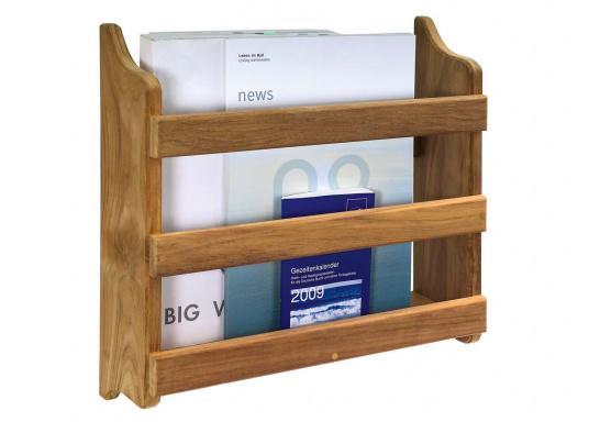 Sorgen Sie für Ordnung! Mit diesem Zeitschriftenhalter aus Teak finden Ihre Zeitschriften und Magazinen einen ordentlichen Platz und sind immer griffbereit.