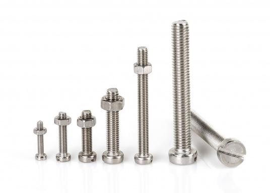 Zylinder-Schrauben in vielen verschiedenen Größen. Erhältlich als SB-Verpackung mit Muttern oder als Großpackung ohne Muttern.  (Bild 6 von 8)