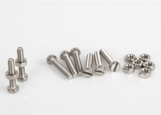 Zylinder-Schrauben in vielen verschiedenen Größen. Erhältlich als SB-Verpackung mit Muttern oder als Großpackung ohne Muttern.  (Bild 7 von 8)