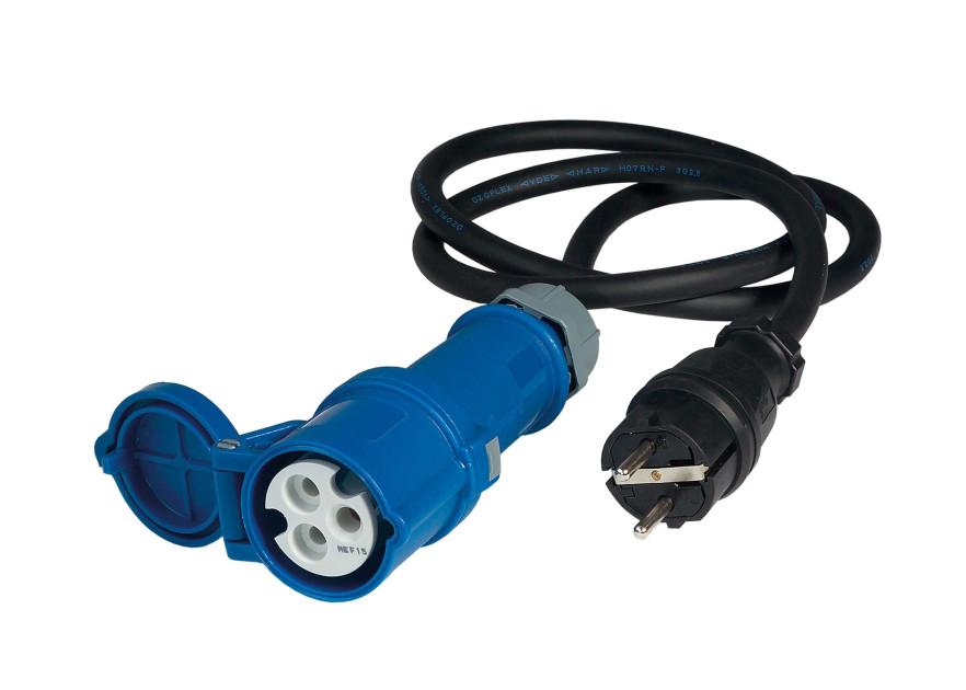 CEE Adapter Kupplung auf Schuko-Stecker 230 Volt 16 A