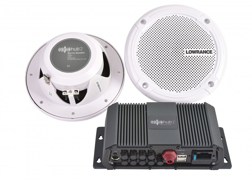 NAVICO Marine Audio Server SonicHub 2 mit zwei Lautsprechern nur 399 ...